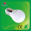 2014 high quality warm white G45 3.6 led bulb e27 ceramic