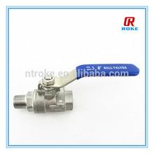 3/8'' Male Female thread Stainless steel 1000 WOG ball valve 70bar