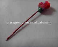 2014 Flower design plastic ball pen for student gift