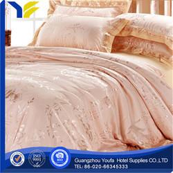 hotel made in China 100% cotton lotus pattern bedding set