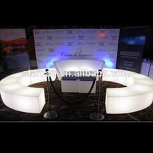 LED plastic waterproof bar stool with flash lighting inside