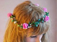 Colorful flower headband,wedding bridal flower headwrap