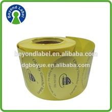 Golden Aluminum Foil Paper Material Adhesive Cake Label, Custom Food Stickers