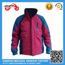 2015 NEW Product Blue color 100% Waterproof 320T Nylon waterproof jacket