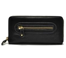 2014 Hot Sale Ladies Wallet Zipper Top Pieces Black Color PU Lady Purse Women Handle Clutch Bag From Bag Manufactory