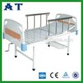 Color de madera cabecera/estribo antiguo hospital cama de hierro