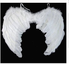 Halloween Fancy Dress White Angel Fairy Wings Costume Hen Night Feathers Outfit