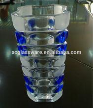 2014 Handmade clear glass vase for wedding centerpiece