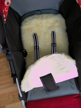 Baby Stroller Seat Cover Sheepskin Baby Car Care Seat Covers