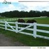 Fentech White 3 Rail PVC/ Vinyl Horse Fence / Ranch Rail Fencing w/ Flat post cap