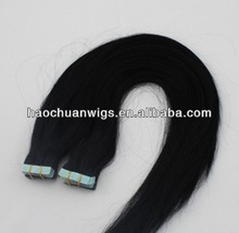 high quality remy brazilian hair extension with double-sided sticker tape hair extension