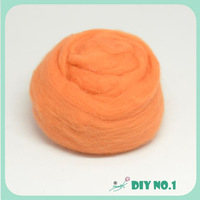 Dyed wool tops washed lamb wool fabric roving