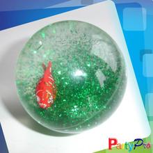 2014 Hot Sale Toy Water Filled Balls Hi bounce Glitter Water Ball