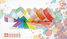 assorted color tyvek bracelets for event