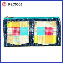 beautiful soft plastic kids 3 zipper pencil case