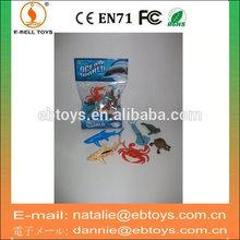 Plastic mini toy animal set wholesale sea animal toy models