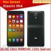 2014 Xiaomi Mi4 Mobile Phone Qualcomm Snapdragon 801 Quad Core 5'' FHD IPS Screen best smart phone dual sim