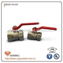 long steel handle standard brass ball valve