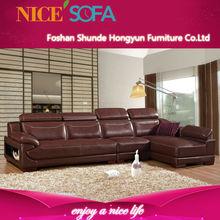 European style hot-sale latest Very comfortable L shape modern sofa design QZN002