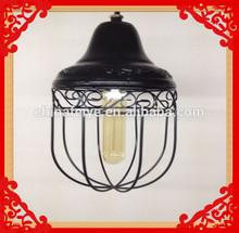 Wire Cage Hanging Light - Indoor/Outdoor