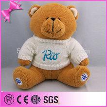 Oem Custom Teddy Bear Toy Advertising Teddy Bear With White Sweater