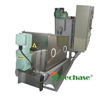 TECHASE-Dewatering screw filter press instead of centrifuge machinefor wastewater treatment