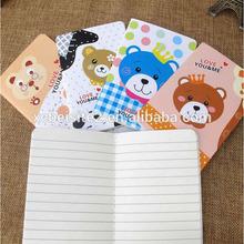 B024 Korea bear series cartoon quality cheap writing notebook