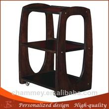 vendita di legno rullo chiodo carrello in legno moderno ed elegante di moda carrello bellezza