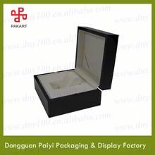 Black luxury wooden watch display case