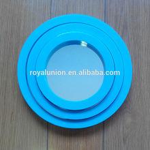 3pcs plastic round bathroom mirror