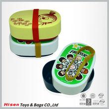 pp material elliptic type plastic lunch box