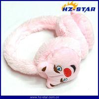 HZE-13116 2014 Newest Warm Fashion plush animal earmuff