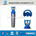 Tped punto de aluminio material aprobado por la fda la venta de aluminio 1l-50l botella de oxígeno médico de cilindros de aluminio
