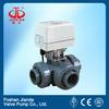 12V electric actuator pvc 3 way ball valve