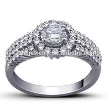 High Quality 925 Silver CZ Mirco Pave Ring
