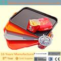 nonslip reutilizáveis retangular bandeja de plástico para alimentos