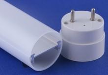Plastic PC tube housing with Aluminum 6063-T5 profile inside T8 led tube housing 1200mm /4 feets long