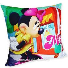 40x40cm dimension washable cheap polyester fabric custom design pillow