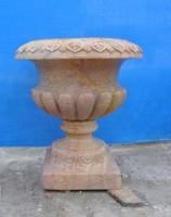 Manor garden decoration carved stone india antique brass vase glassware