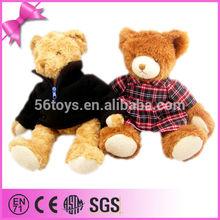 OEM/ODM children favorite animal toy clothing stuffed bear for sale