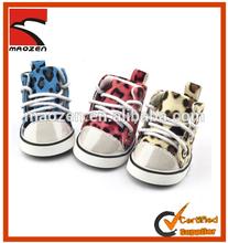 Winter PU Leopard Pet Dog Warm Shoes 4pcs/Set