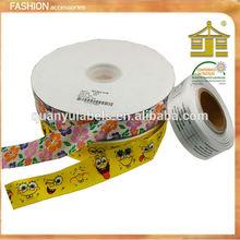 flower printed satin ribbon,custom printed ribbon for candy