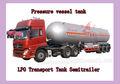 De alta capacidad utilizado 59.7m3 semi remolque de glp, tanques de gas lpg