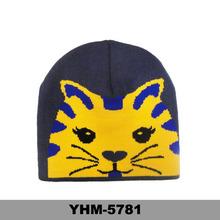 Cat printed stocking capsbeanie crochet knitted hats animal