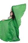 Shinning Belly Dance Wings in Butterfly Shape , Opening Belly Dance Isis Wings Printing Peacock Feather