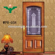 2014 new products semi solid wooden door mahogany solid wood door