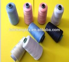 40/2 polyester spun yarn sewing thread on plastic cone