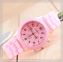 New Hot Selling Women Casual Vogue Dress Watch Silicone Sport Watches Quartz Geneva Vogue Men Shipping by DHL DW029