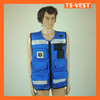 Black Binding Cheap Fishing Vest with PVC Reflective Tapes