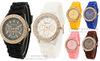 Wholesale Gevena Sport wiristwatch/silicon band watch/with circle diamond F120